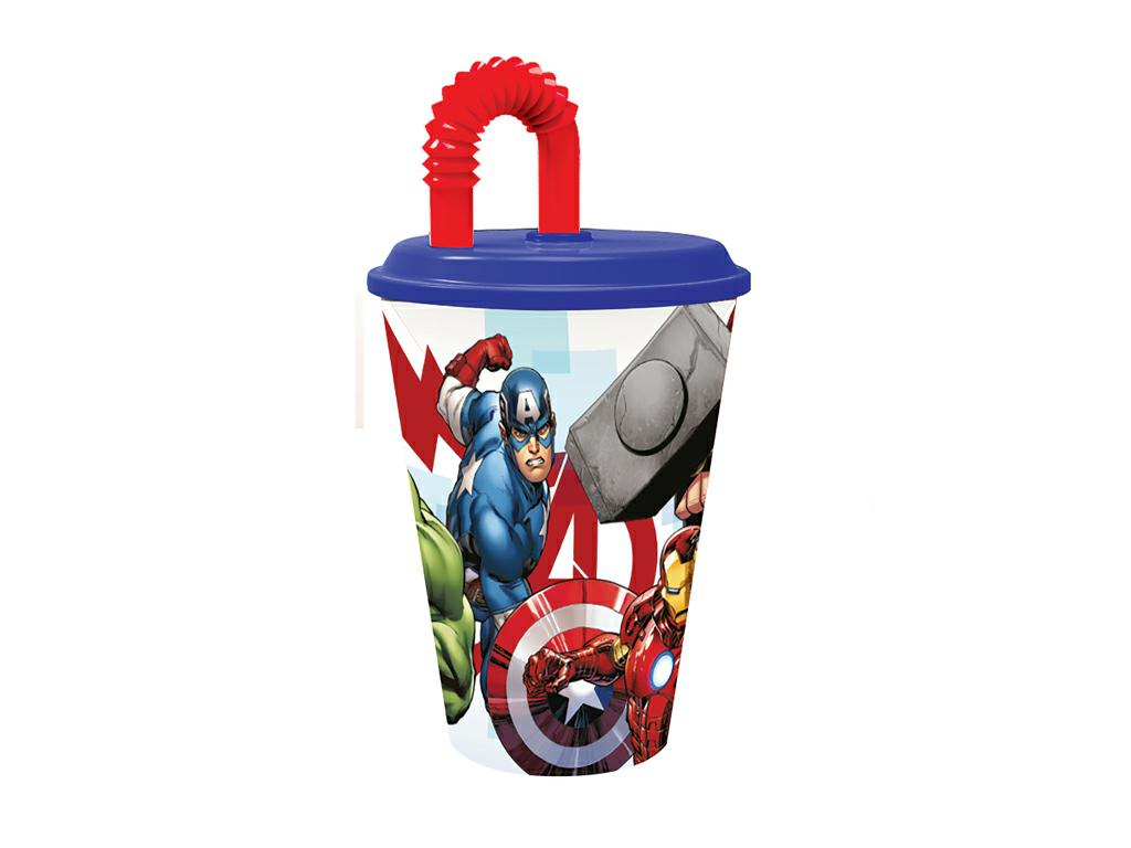 AVENGERS BICCHIERE C/CANNUCCIA ml.430