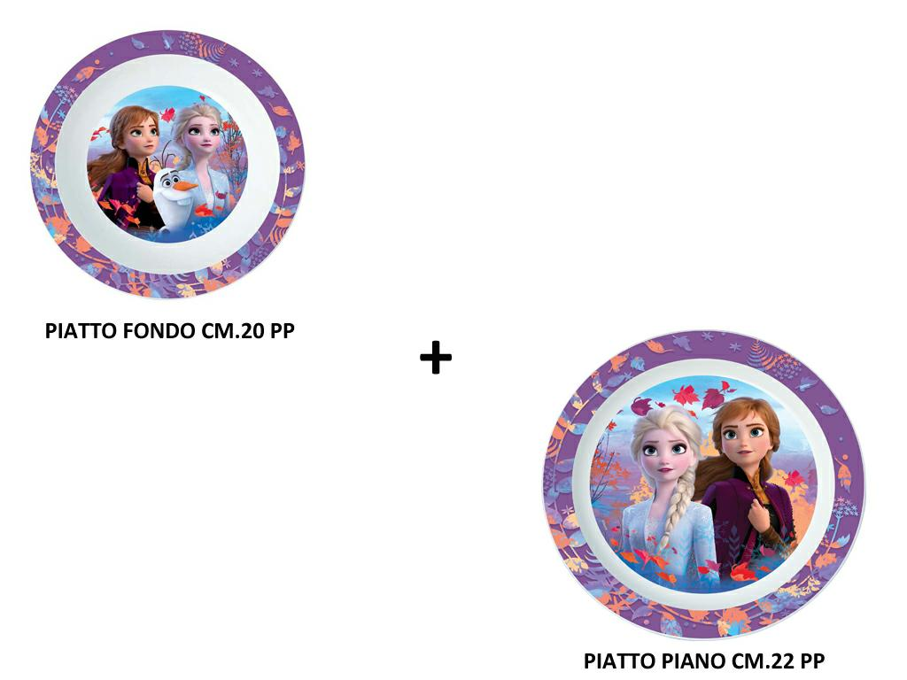 FROZEN 2 ASS.TO PIATTO PIANO + FONDO MICROONDE